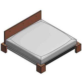 Кровать из бруса 40х40(60)мм.