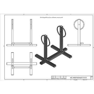 Инверсионный стол для залов (бодибилдинг, пауэрлифтинг)